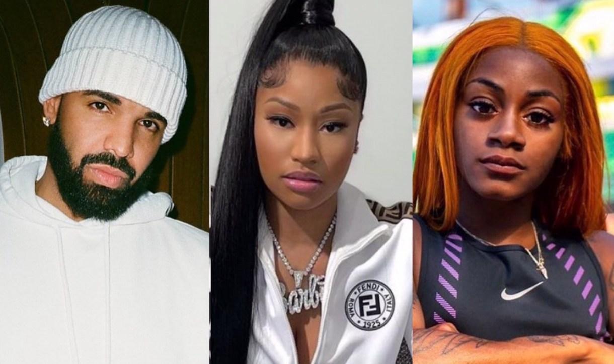 Drake, Nicki Minaj, Beenie Man et Shenseea réagissent à la défaite de Sha'Carri face au trio jamaïcain 2