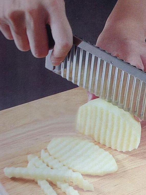 Stainless-Steel-Blade-Potato-Carrot-Wavy-Crinkle-Cutter-Slicer-Home-Kitchen-Tools-MF83