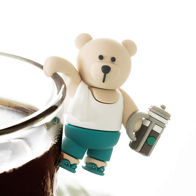 French Press Boy Bearista Cup Clip^