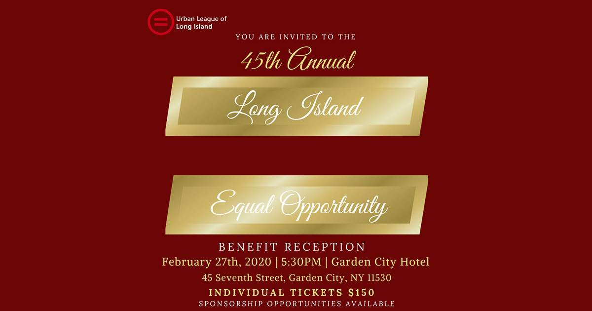 45th Annual Equal Opportunity Benefit Event urban league long island