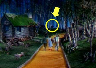 Wizard of oz hanging man in background