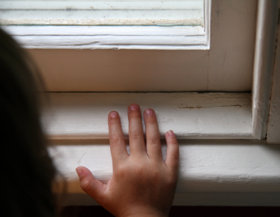 Window Sill with Hands