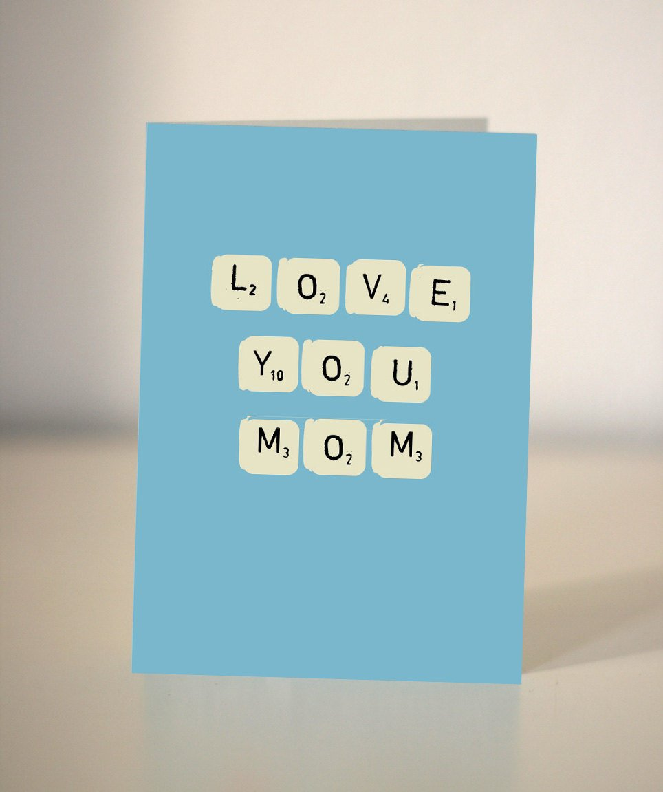 Love You Mom Mum Birthday Card For Or Just To Say I