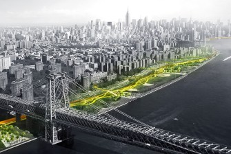 Rendering of East Side Coastal Resiliency project, Manhattan, New York