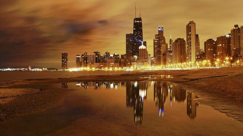 Chicago's Orange Glow