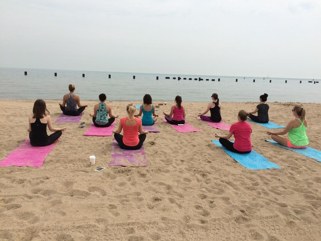 beach yoga chicago