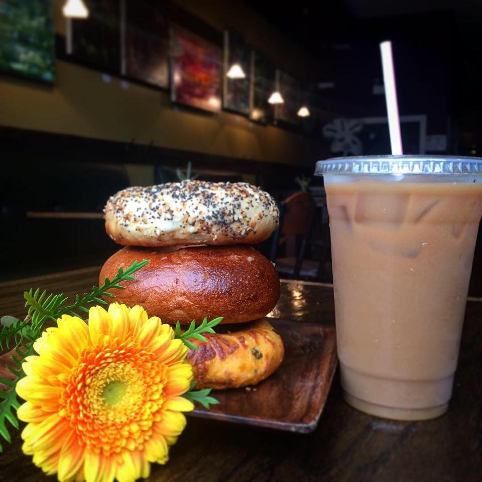 The Bagelers Coffeehouse breakfast