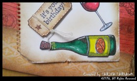 Wine Bottle and Glass Card 10
