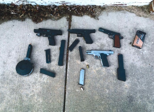 The police were able to prevent a likely shootout on the near North Side where one criminal was armed with several guns and tons of ammunition supplied by his brother, who had a CCW permit. Photo courtesy of the Milwaukee Police Department.