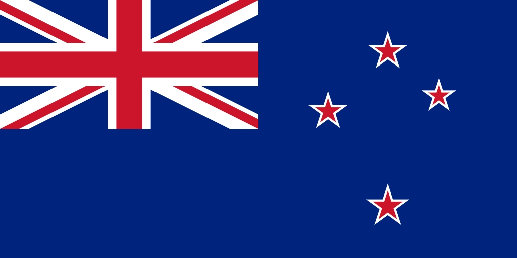 Flag of New Zealand. Image is in the Public Domain.