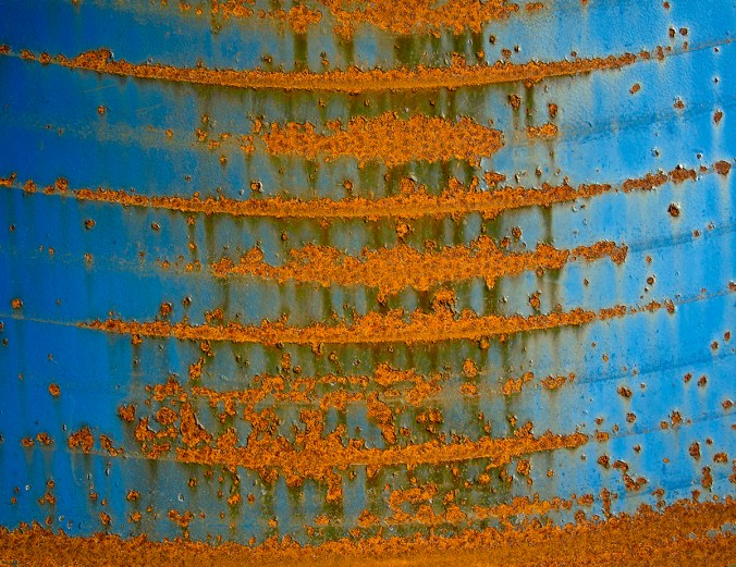 Spectacular Rust on a Dumpster in our Local Costco Parking Lot