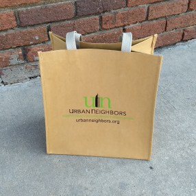 Urban Neighbors washable paper bag, front