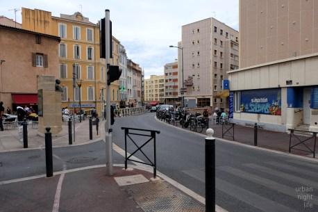 random street scene.