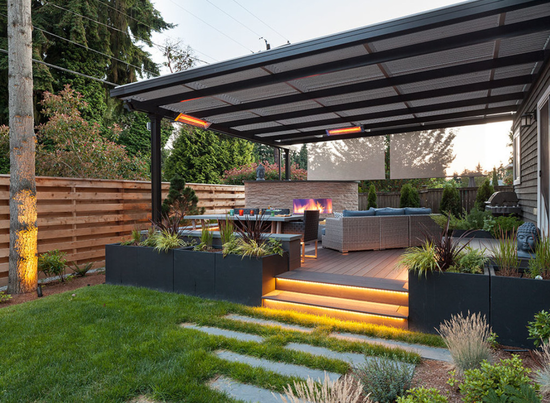 Kirkland Modern Backyard | Urban Oasis Design ... on Contemporary Backyard  id=20642
