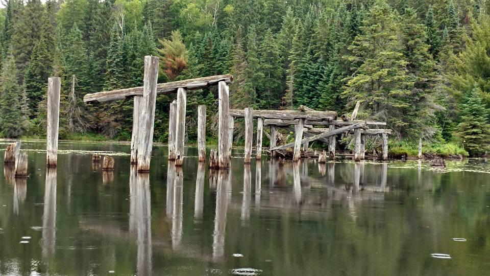 bridge ruins on Potter's creek in Algonquin Park