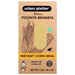 Urban Platter Italian Instant Yellow Corn Meal Polenta Bramata, 1Kg [Made in Italy, Vacuum Packed]