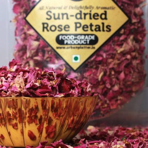 Urban Platter Sun Dried Rose Petals, 200g