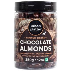 Urban Platter Dark Chocolate Coated California Almonds, 350g