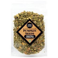 Urban Platter Roasted Pumpkin Seeds, Unsalted, 200g [Heart-healthy, Gluten-free, Healthy Snack]