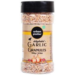 Urban Platter Dehydrated Garlic Granules Shaker Jar, 100g / 3.5oz [Versatile, Savoury, Great Flavour]