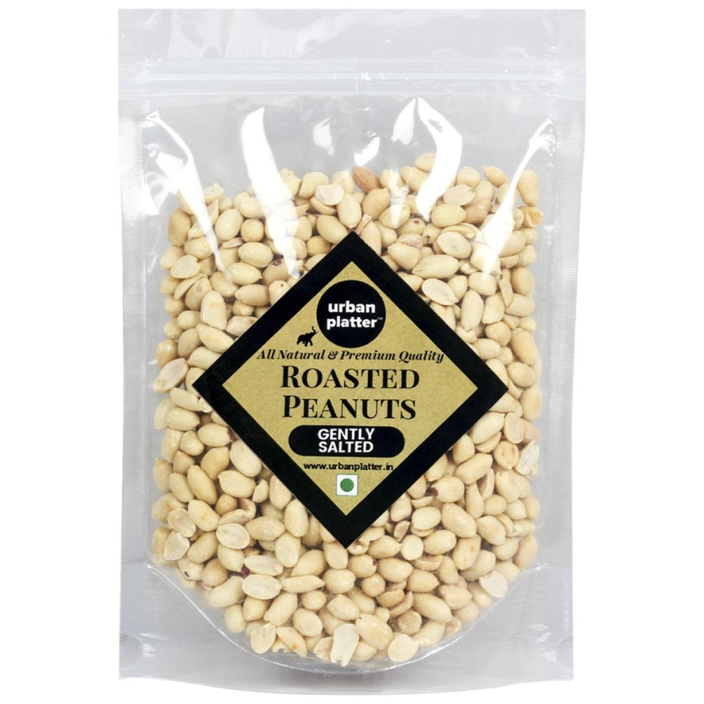 Urban Platter Roasted Salted Peanuts, 1Kg [Grade A Peanuts, Skin Removed]