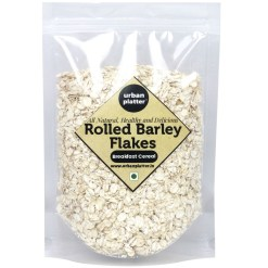 Urban Platter Rolled Barley Flakes, 1Kg [High-fiber Breakfast Cereal]