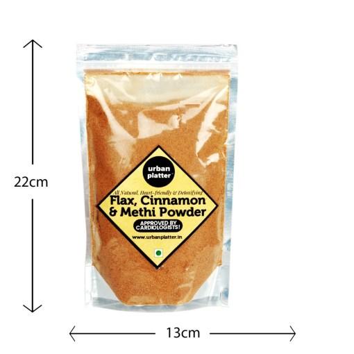 Urban Platter Flax, Cinnamon & Methi Powder, 250g [All Natural, Heart-friendly, Detoxifying]