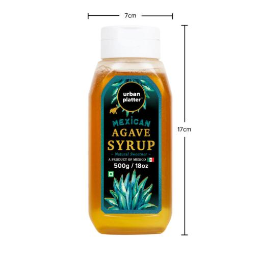 Urban Platter Mexican Agave Syrup, 500g / 18oz [Natural Sweetener]