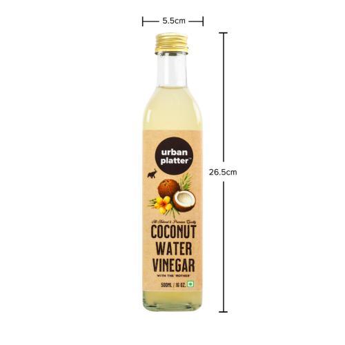 Urban Platter Raw Coconut Vinegar, 500ml [All Natural, Rich in Amino Acids]