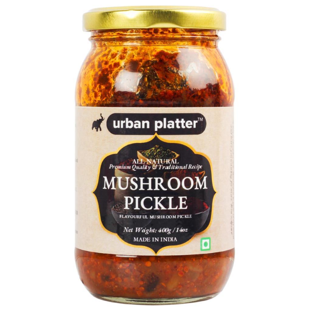 Urban Platter Traditional Mushroom Pickle, 400g