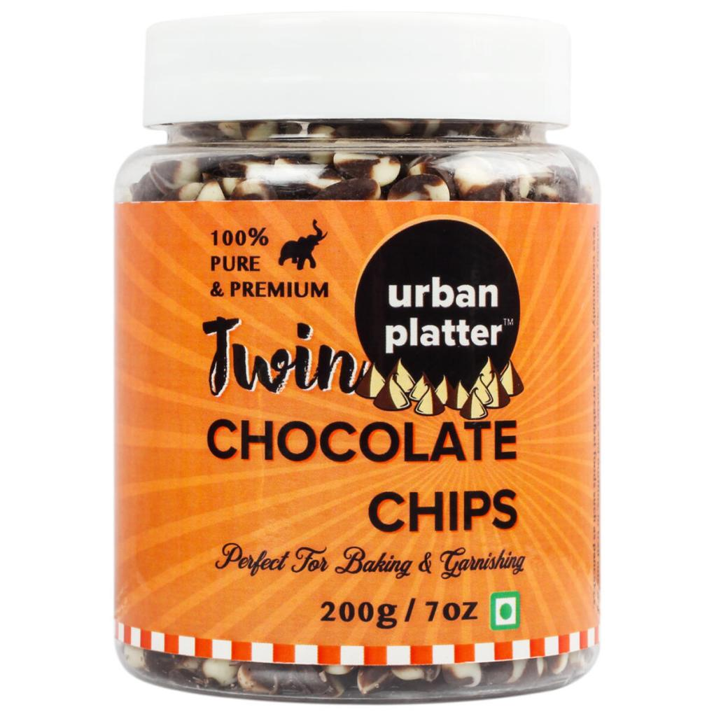 Urban Platter Dark & White Twin Chocolate Chips, 200g