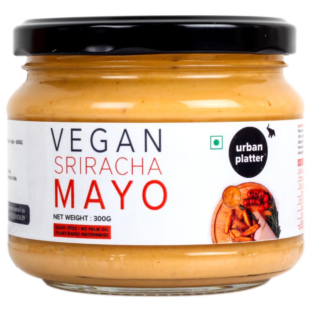 Urban Platter Vegan Sriracha Mayo, 300g / 10.6oz [Dairy-free Mayonnaise, No Palm Oil, No Trans-fat]