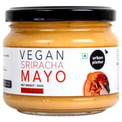 Urban Platter Vegan Sriracha Mayo, 300g / 10.6oz [Dairy-free Mayonnaise, No Palm Oil, No Trans-fat]