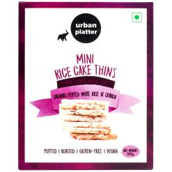 Urban Platter Organic Puffed White Rice & Quinoa Mini Rice Cake Thins, 100g