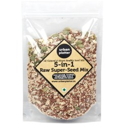 Urban Platter 5-in-1 Raw Seeds Mix [Raw Sunflower Seeds, Pumpkin Seeds, Flax Seeds, Sesame Seeds, Watermelon Seeds], 400g