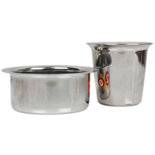 Urban Platter Stainless Steel South Indian Drip Style Davra Vati Set, Pack Of 2
