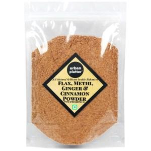 Urban Platter Flax, Methi, Ginger & Cinnamon Powder, 400g [All Natural & Heart-health Enhancer]