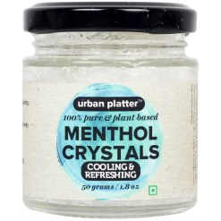 Urban Platter Menthol Crystals, 50g [100% Pure, Plant-based, Cooling & Refreshing]