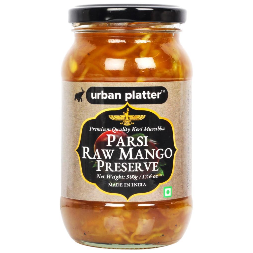 Urban Platter Parsi Raw Mango Preserve, 500g / 17.6oz [Keri Murabba, Flavorful, Premium Quality]