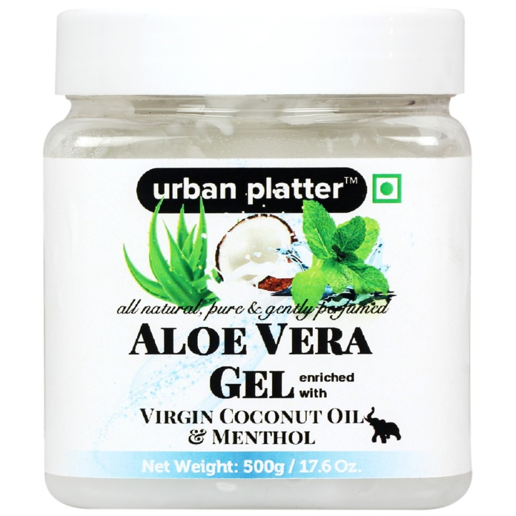 Urban Platter Aloe Vera Gel Enriched With Virgin Coconut Oil & Menthol, 500g
