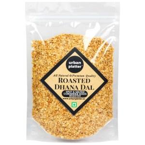 Urban Platter Roasted Dhana Dal (Roasted Split Coriander Seeds), 400g