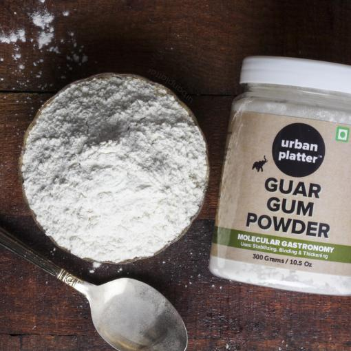 Urban Platter Guar Gum Powder Jar, 300g [All Natural, Thickening Agent, Binding Agent for Baking]
