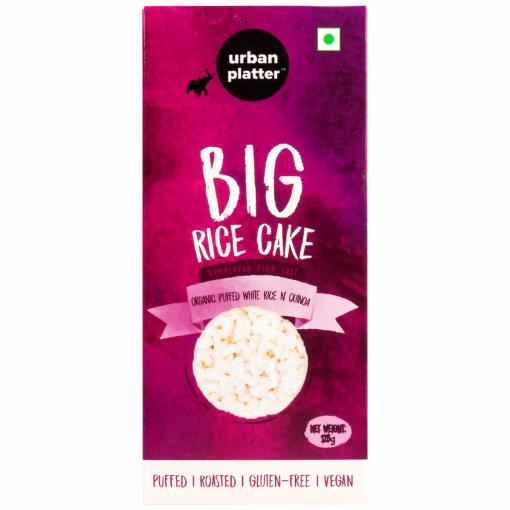 Urban Platter Organic Puffed Quinoa and White Big Rice Cakes, 125g