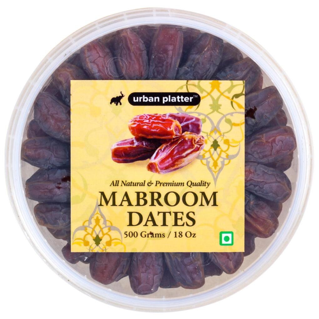 Urban Platter Mabroom Dates, 500g [All-natural and Premium Quality]