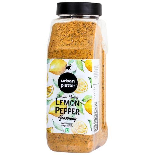 Urban Platter Lemon Pepper Seasoning Mix Shaker Jar, 500g / 18oz [Zesty & Lively]