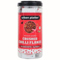 Urban Platter Crushed Chilly Flakes Sachets, 100 Sachets (1g Each) [Perfect for Pizza, Parties, Office]