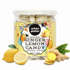 Urban Platter Ginger, Lemon Candy, 350g/12.3oz [Vintage-style Boiled Sugar Confectionery]