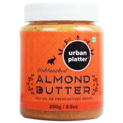 Urban Platter Almond Butter, 250g [All Natural, No Hydrogenated oil, No preservatives]