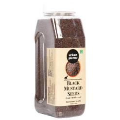 Urban Platter Whole Black Mustard Seeds (Rai or Sarson) Shaker Jar, 600g /21.1oz [High Fibre, All Natural, Premium Quality]