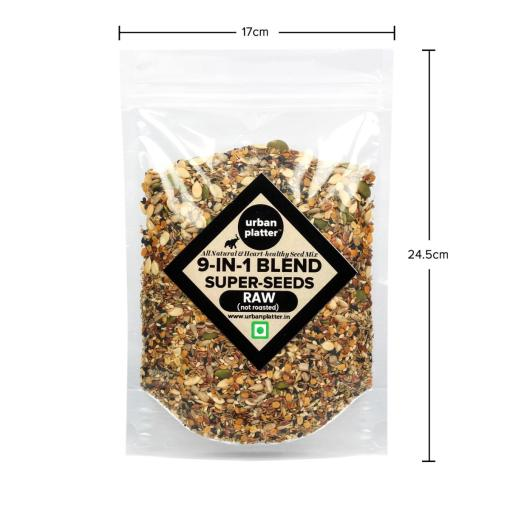 Urban Platter 9-in-1 Raw Seeds Blend, 400g [All Natural, Heart Healthy Seed Mix]